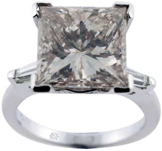 5.91 Carat Princess Cut Diamond Platinum Engagement Ring SOLD