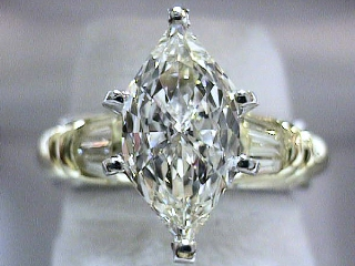 2.0 Carat Duchess Cut Diamond Engagement Ring SOLD