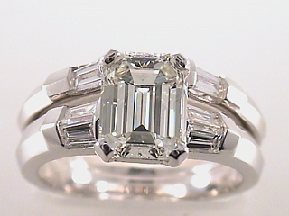 2.35 Carat GIA Certified Emerald Cut Diamond Ring & Band SOLD