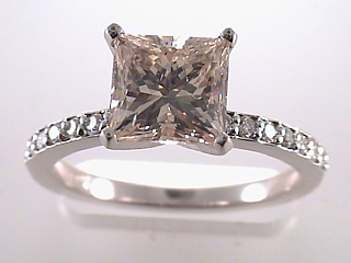 2.43 Carat Fancy Yellow Princess Diamond Engagement Ring SOLD