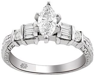 .79 Carat Bellona Diamond 14Kt White Gold Engagement Ring