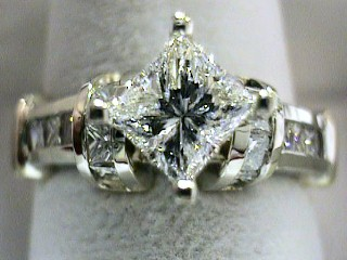 2.28 Carat Star Set Princess Cut Diamond Solitaire SOLD