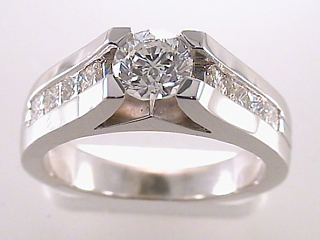 1.35 Carat Princess Cut Diamond Engagement Ring SOLD