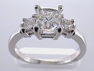 1.95 Carat EGL Certified 3 Princess Diamond Engagement Ring SOLD