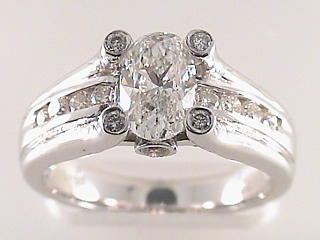 1.55 Carat PGS Oval Cut Diamond Engagement Ring SOLD