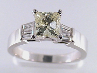 1.66 Carat Fancy Yellow Diamond Engagement Ring SOLD