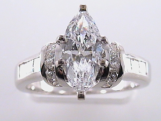 2.08 Carat EGL Marquise Cut Diamond Engagement Ring SOLD