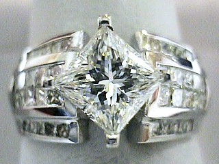 3.55 Carat EGL Princess Star & Invisible Set Diamond Ring SOLD