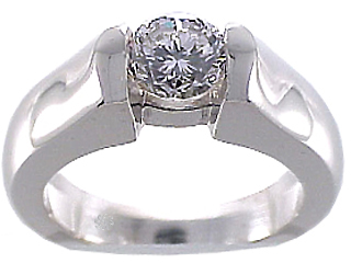 .75 Carat Novar Diamond Platinum Engagement Ring