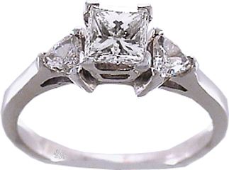 .82 Carat Reflection Diamond 14Kt White Gold Engagement Ring