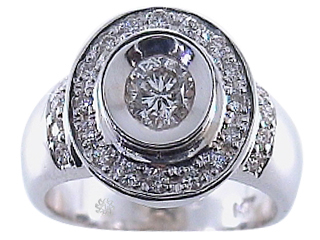 1.19 Carat Vanita Diamond 14Kt White Gold Engagement Ring