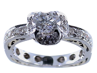 1.73 Carat Rosalind Diamond 14Kt White Gold Engagement Ring
