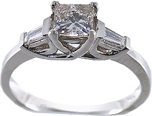 .84 Carat Finesse Diamond 14Kt White Gold Engagement Ring