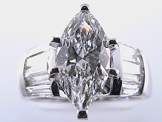 2.54 Carat EGL Certified Marquise Diamond Engagement Ring SOLD
