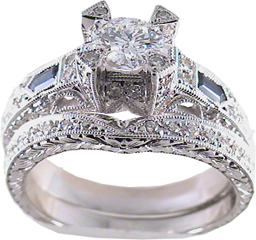1.60 Carat Alexius2 Diamond 14Kt White Gold Engagement Ring