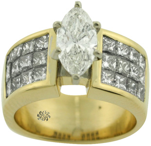 2.37 Carat Marquise Diamond 18Kt Gold Engagement Ring SOLD