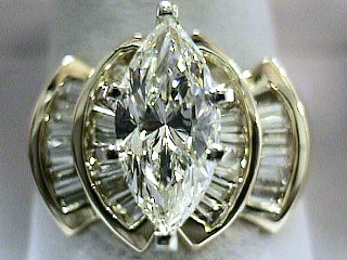 2.69 Carat Sun Marquise Cut Diamond Engagement Ring SOLD