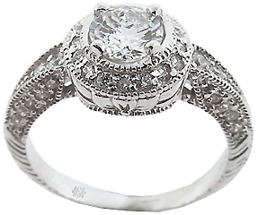 1.12 Carat Janeeva Diamond 14Kt White Gold Engagement Ring
