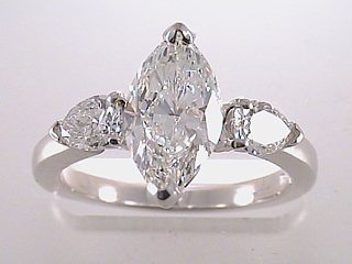 1.98 Carat Marquise & Pear Diamond Engagement Ring SOLD