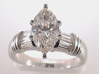 2.07 Carat Marquise Diamond Platinum Engagement Ring SOLD