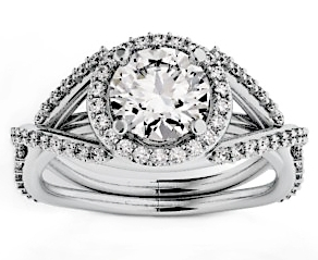 1.81 Carat Maia Diamond 14Kt White Gold Engagement Ring