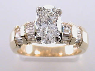 2.40 Carat EGL Oval Cut Diamond Engagement Ring SOLD