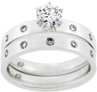 .88 Carat Zena2 Diamond 14Kt White Gold Engagement Ring