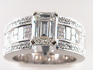4.02 Carat Emerald Cut Diamond Engagement Ring SOLD