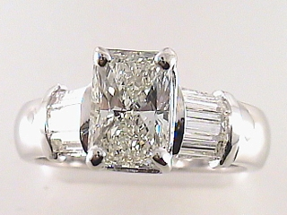 2.47 Carat Radiant Cut Diamond Engagement Ring SOLD