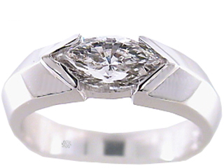 .65 Carat Purity Diamond 14Kt White Gold Engagement Ring