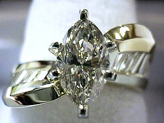 2.51 Carat Marquise Diamond Twister Solitaire SOLD