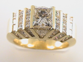 4.0 Carat EGL Princess Cut Diamond Ring SI1-H SOLD