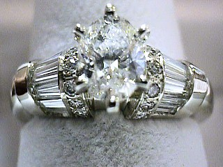 2.37 Carat EGL Certified Oval Cut Diamond Ring SOLD