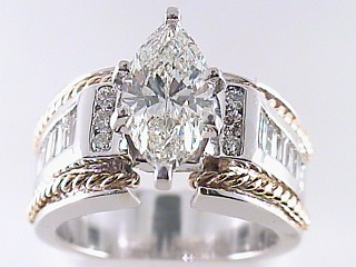 2.65 Carat Marquise Cut Diamond Engagement Ring SOLD