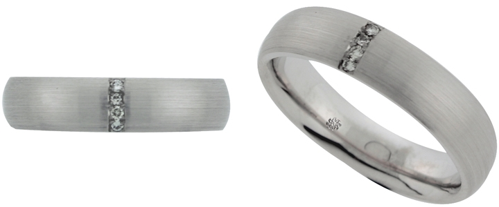 Dynamic Titanium 4mm Brushed Roman Numerals Wedding Ring Band Size 12.00 Designed Jewelry & Watches