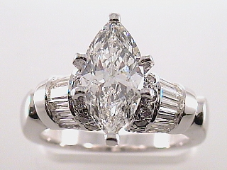 2.69 Carat EGL Marquise Cut Diamond Engagement Ring SOLD