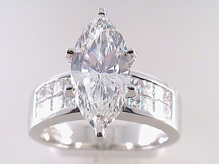 "4.04 Carat ""Cutter's Goof"" Marquise Diamond Engagement Ring SOLD"