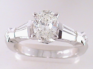 1.91 Carat Oval Cut Diamond Engagement Ring SOLD