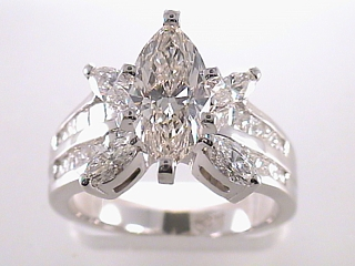 2.61 Carat Marquise Cut Diamond Engagement Ring SOLD
