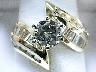 2.99 Carat Cassidy Diamond 14Kt Yellow Gold Engagement Ring