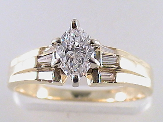 .77 Carat EGL Marquise Cut Diamond Engagement Ring SOLD