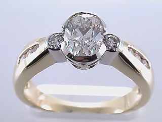 1.41 Carat 2-Tone Oval GIA Certified Diamond Engagement Ring SOLD