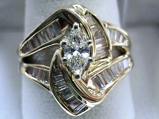 1.50 Carat Marquise Custom One Time Diamond Engagement Ring SOLD