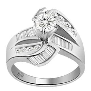 2.34 Carat Belita Diamond 14Kt White Gold Engagement Ring