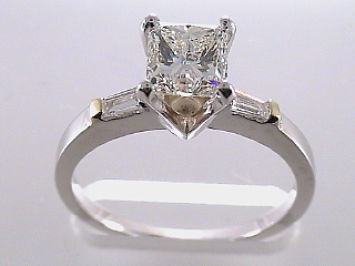 1.37 Carat EGL Princess Cut Diamond Engagement Ring SOLD