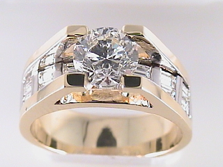 2.51 Carat Floating Round Diamond Engagement Ring SOLD