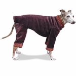 Italian Greyhound Mulberry Windblock Fleece Bodysuit