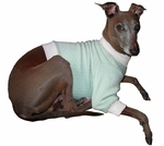 Italian Greyhound Sculpted Mint Cable Fleece Sweater