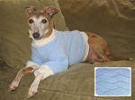 Italian Greyhound Sculpted Blue Diamond Fleece Sweater