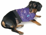 Dachshund Violet Embroidered Fleece Sweater